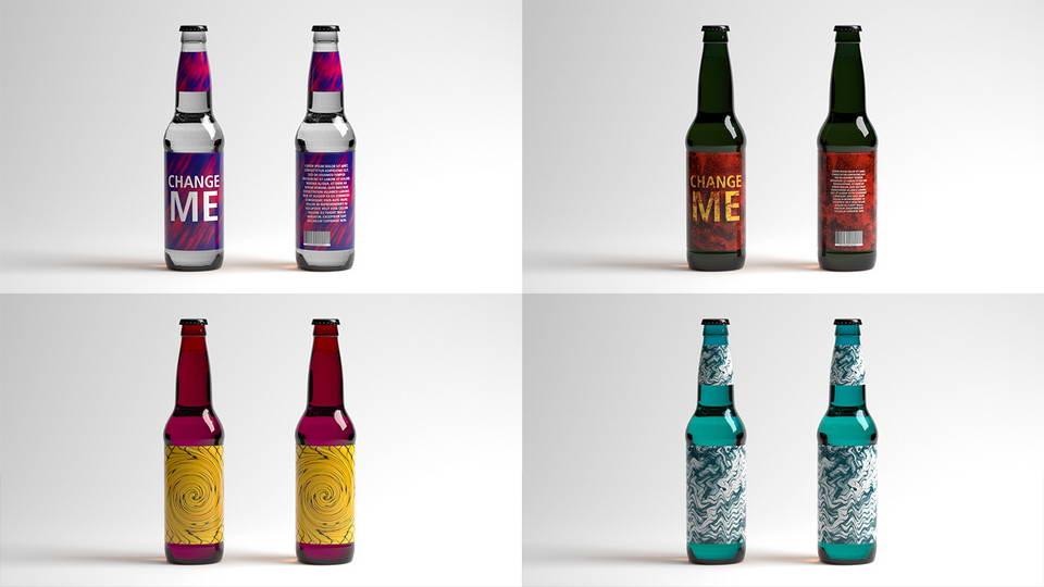 Beer Bottle Free Mockup · Pinspiry