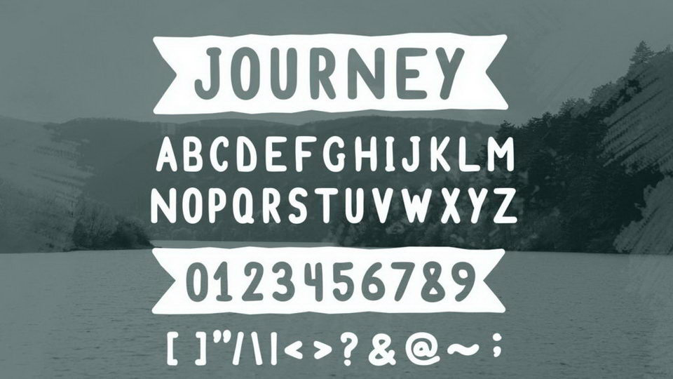 journey free font