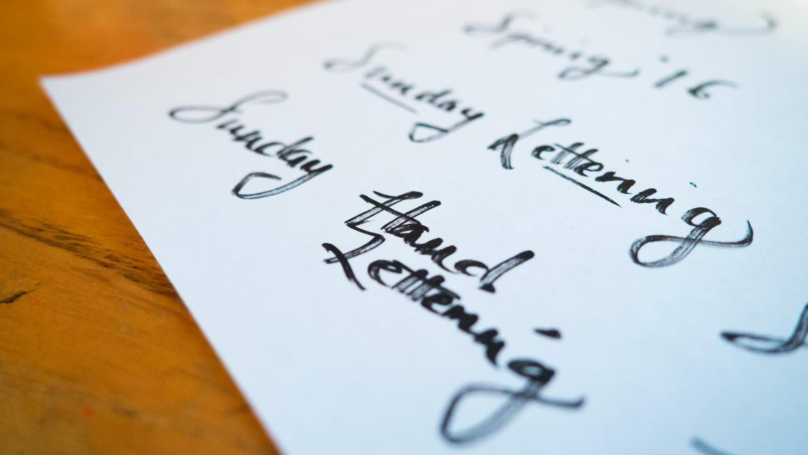 lettering tutorial video