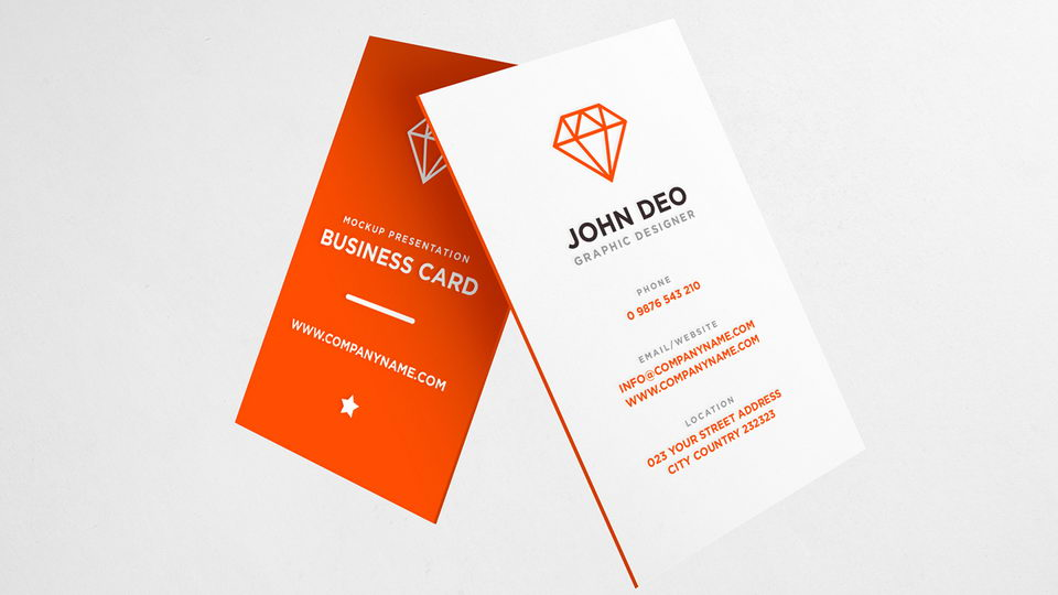 Business Cards Free Mockup | Pinspiry