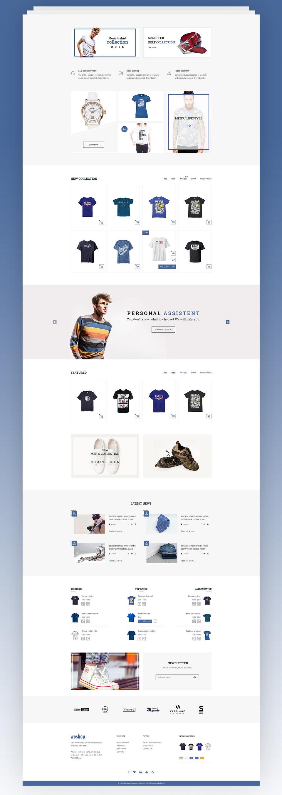 Ecommerce Website Template – Pinspiry