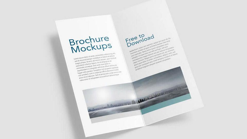 Half Fold Brochure Free Mockups · Pinspiry