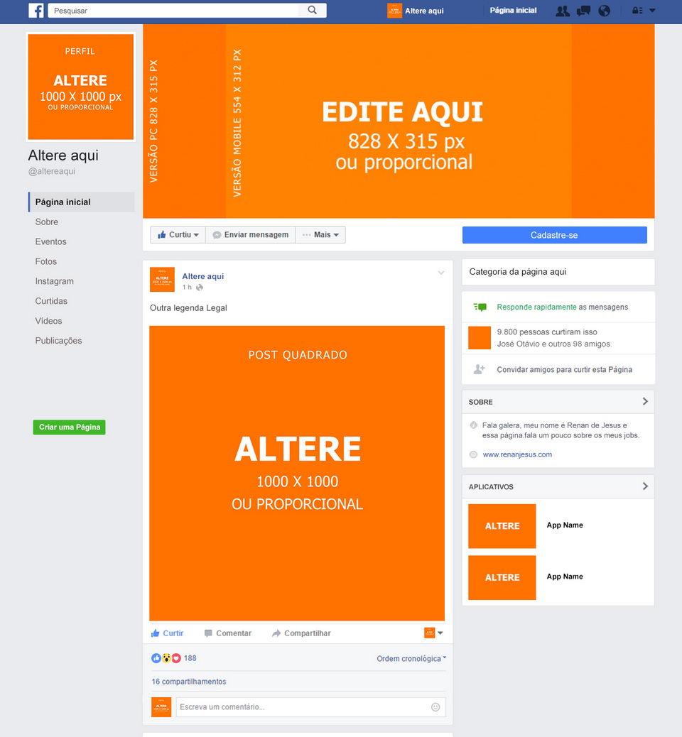 Facebook Free Mockup PSD · Pinspiry