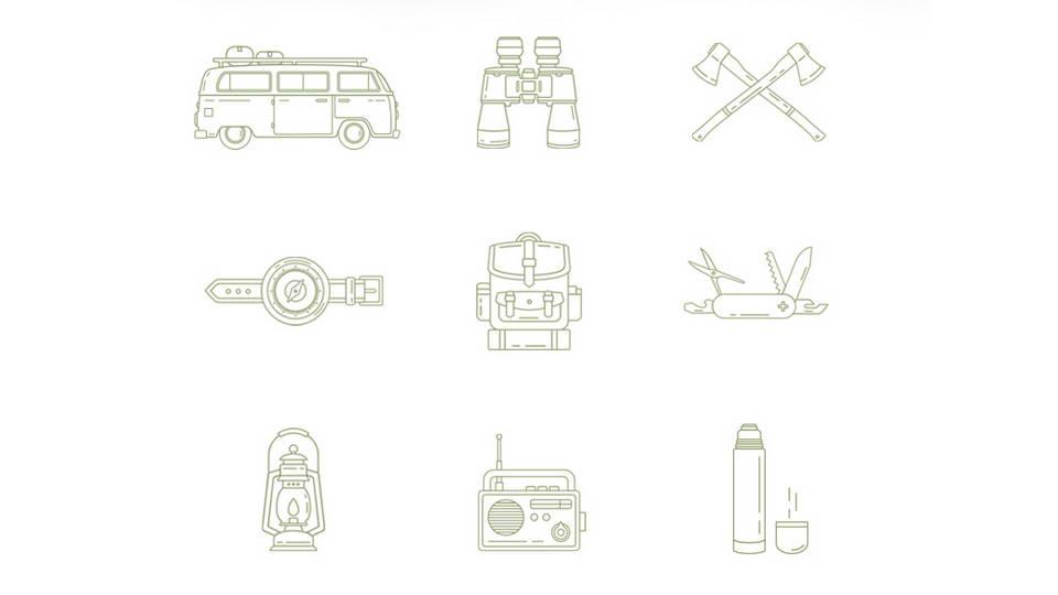 free travel icons
