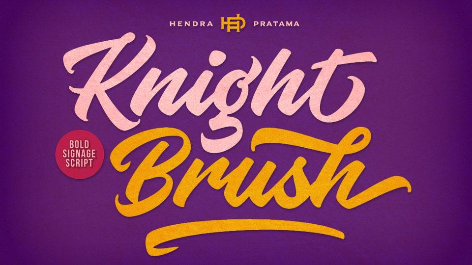 knight brush free font