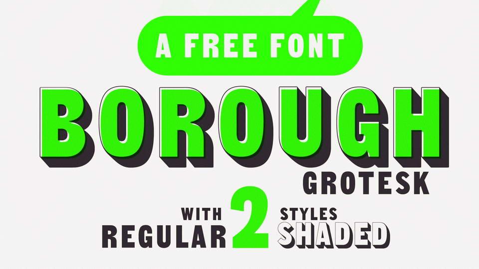 Borough Grotesk Free Font · Pinspiry
