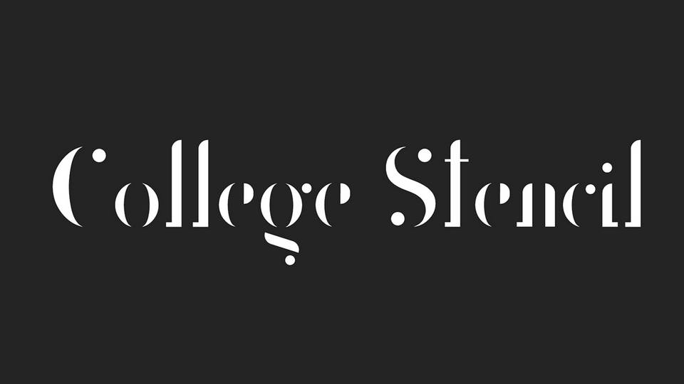 college stensil font download