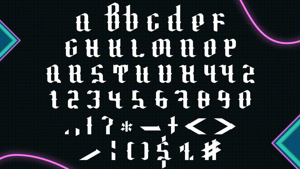 Locampwow Gothic Is A Free Font That Comes From Classic Lettering Style It With Uppercase Letters Numerals And Basic Symbols