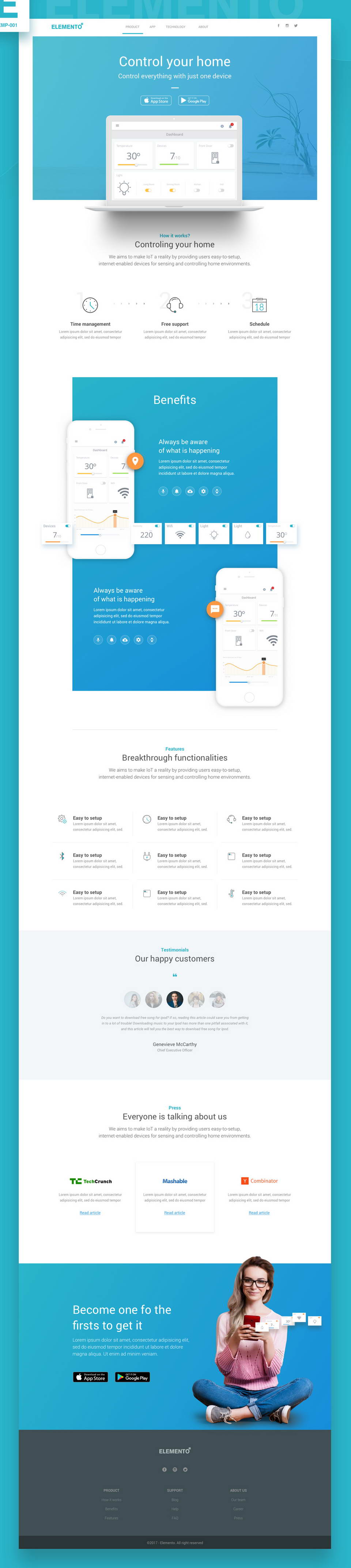 Elemento Startup Web Template Pinspiry - What is web template