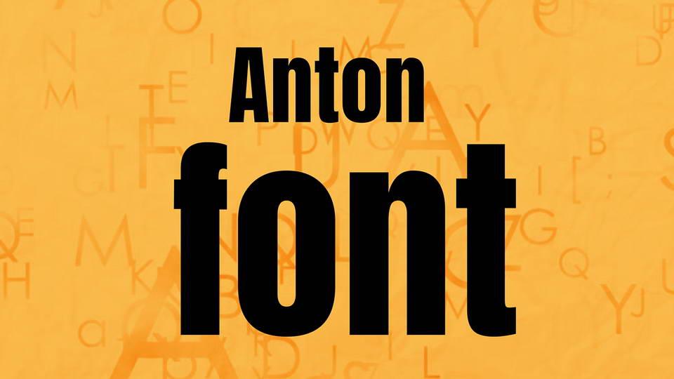 free anton font