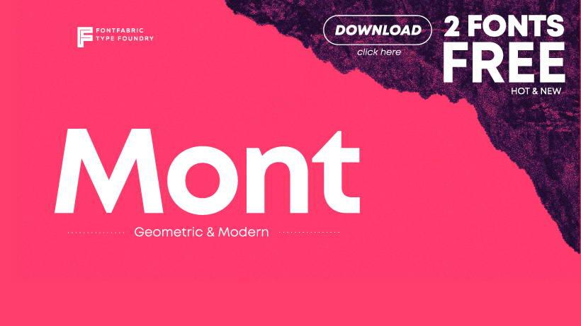 Mont Free Font Pinspiry
