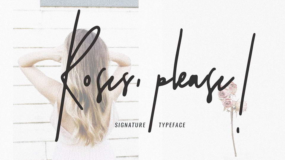 roses please free font
