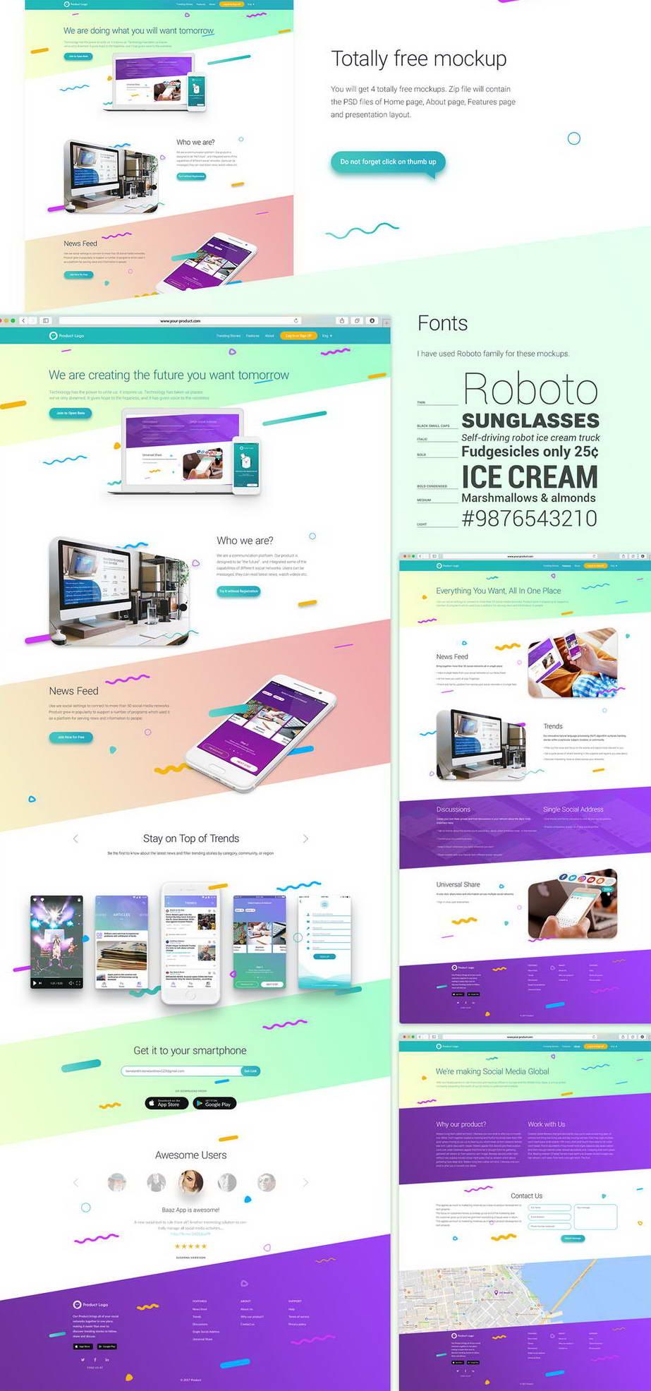 Free Website Mockup Psd Pinspiry