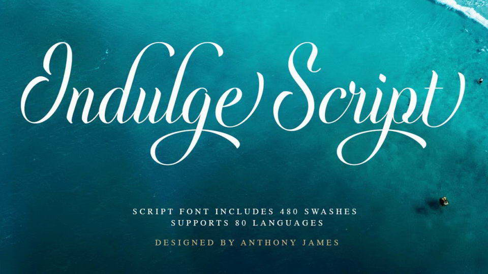 indulge script font download