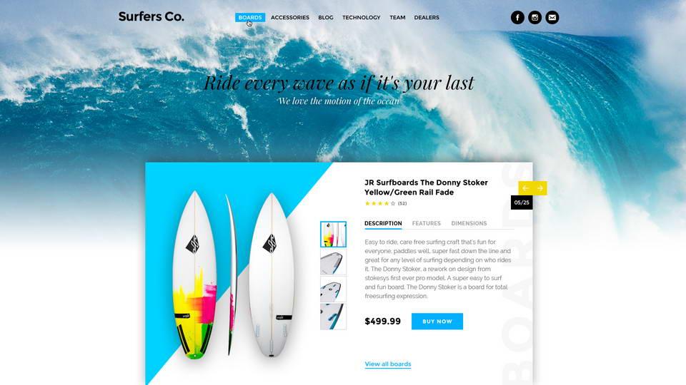 surfers landing free psd
