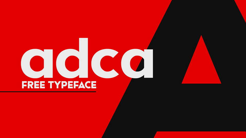 adca free font