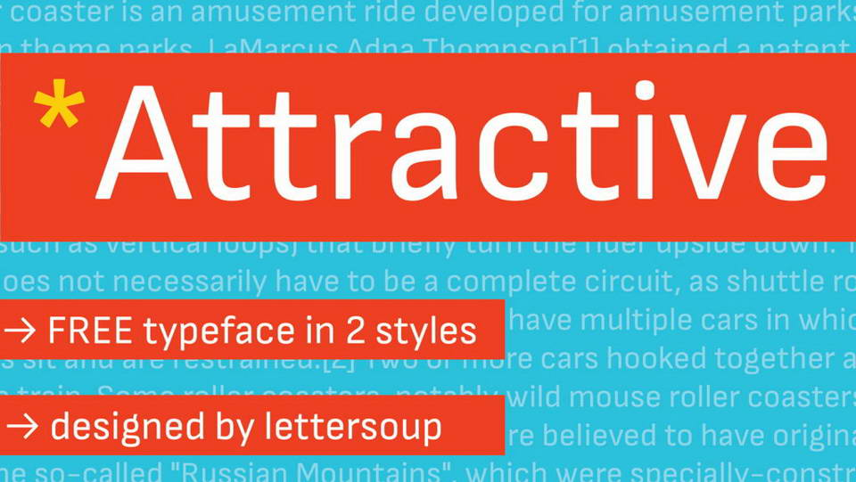 attractive free font download