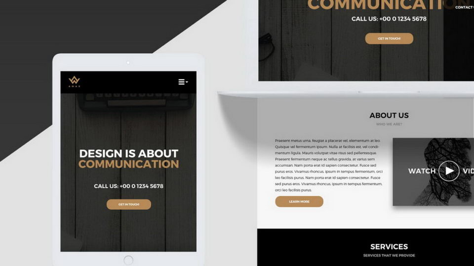awax landing page template