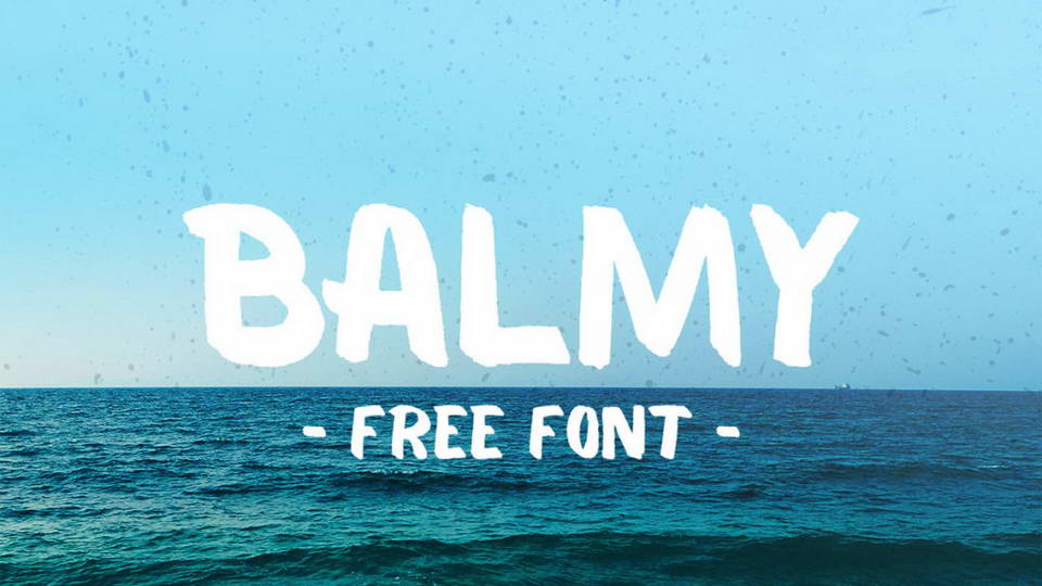 balmy free font download