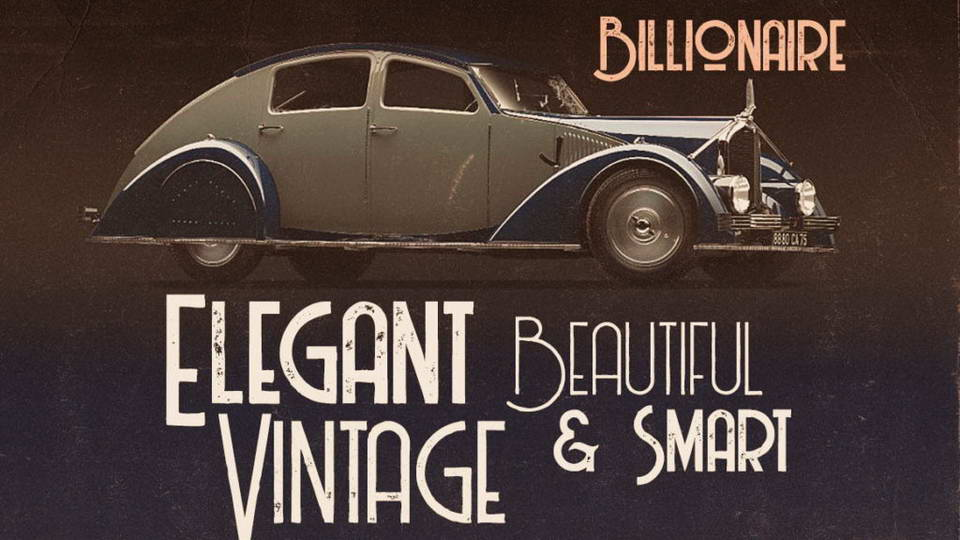 billionaire free font