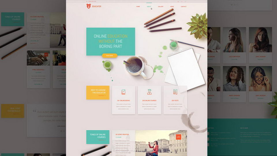 educator web template psd
