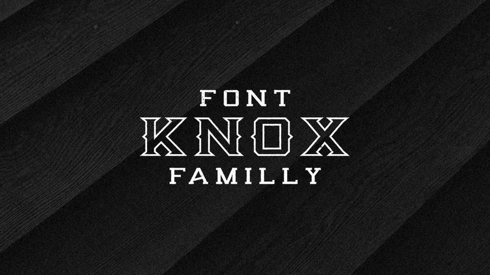 knox free font download