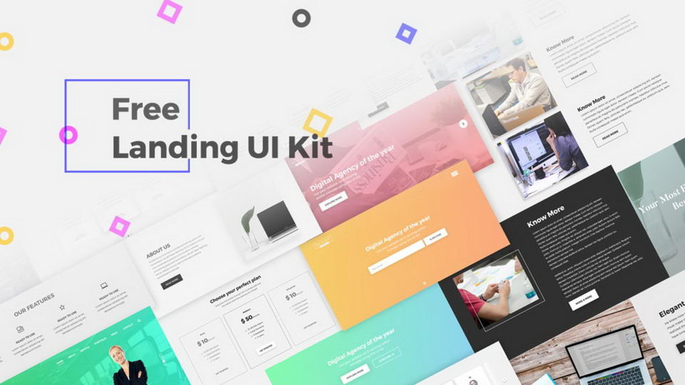 landing ui kit download