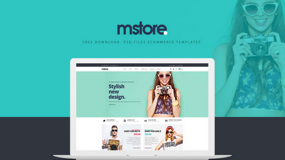 mstore psd template download