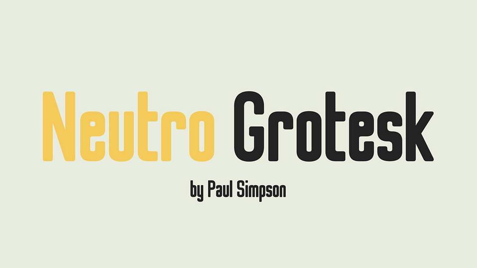 neutro grotesk free font
