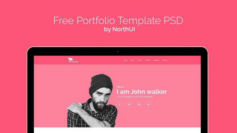 onepage portfolio web template