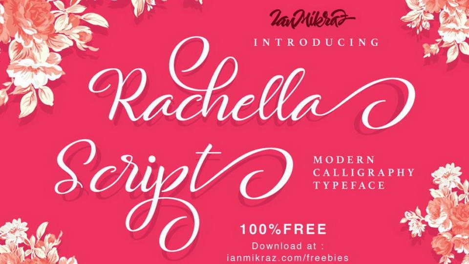 rachell script free font