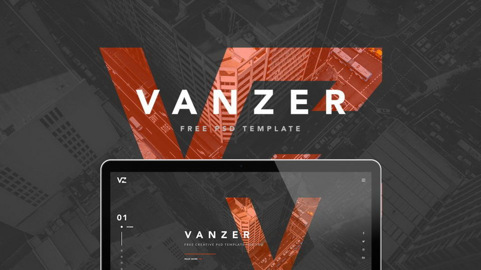 vanzer portfolio psd download