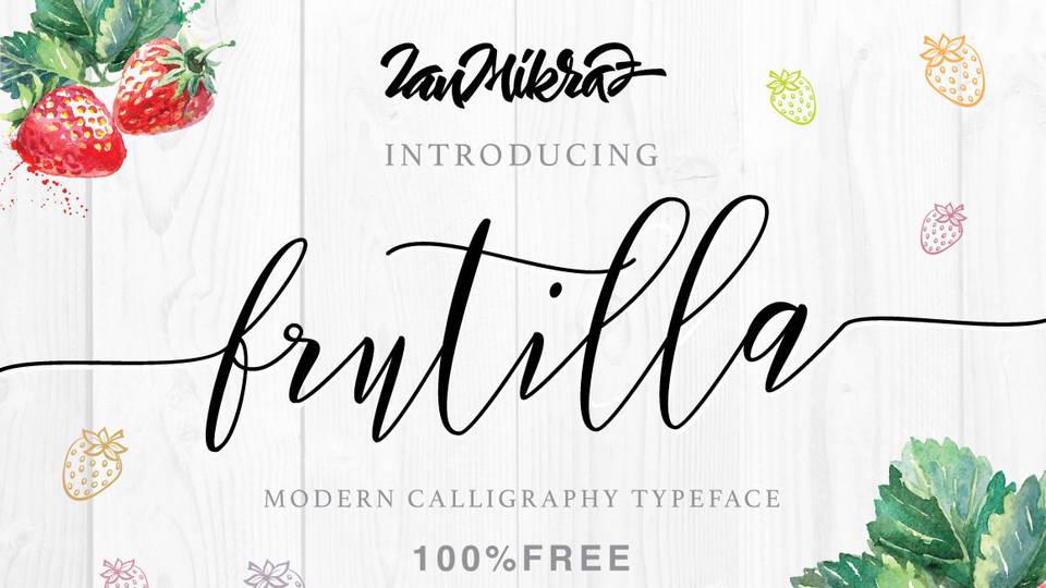 frutilla free font