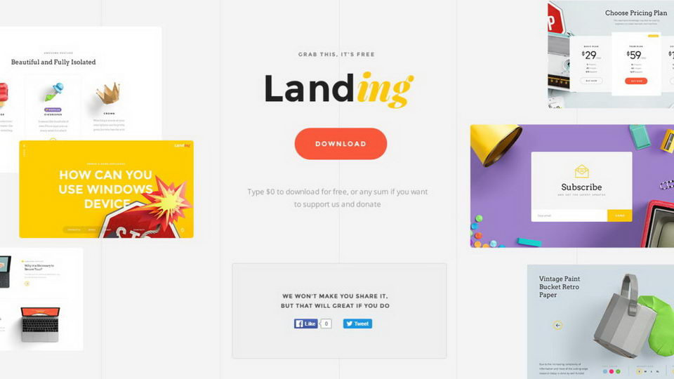landing ui kit free download