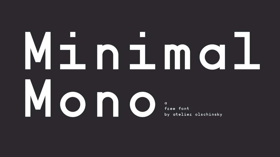 minimal mono free font
