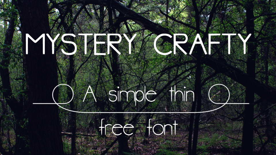 mystery crafty free font