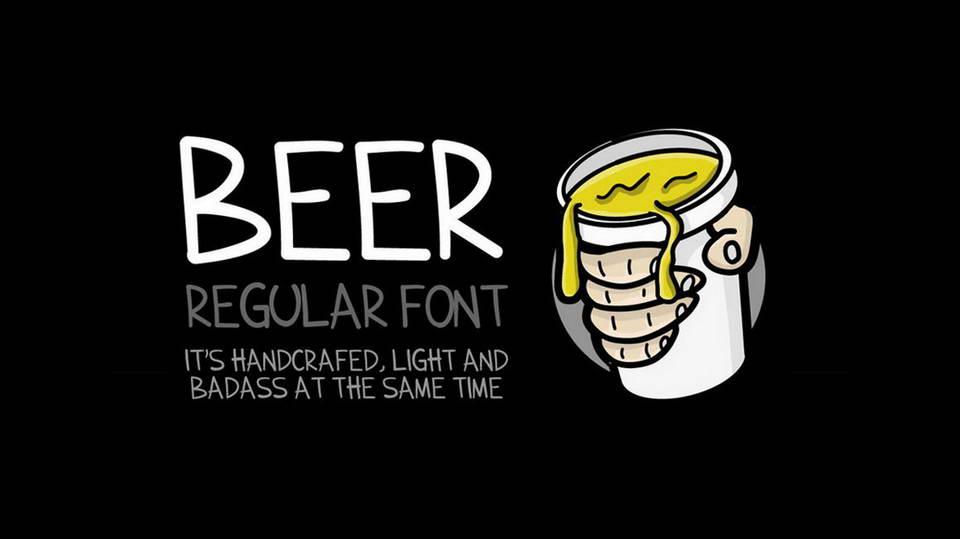 beer free font