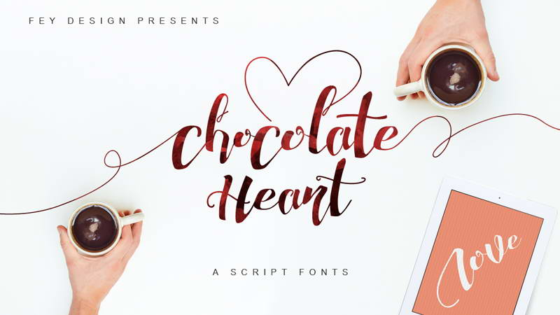 chocolateheartfont