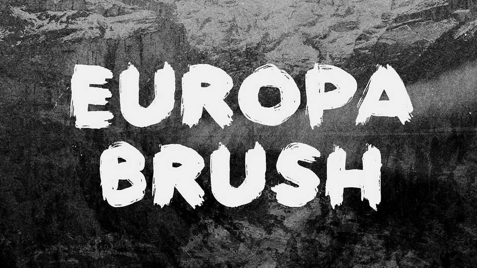 europa brush free font