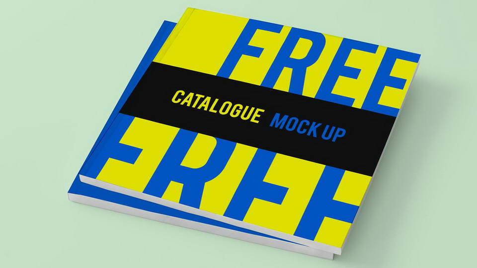 free catalog mockup