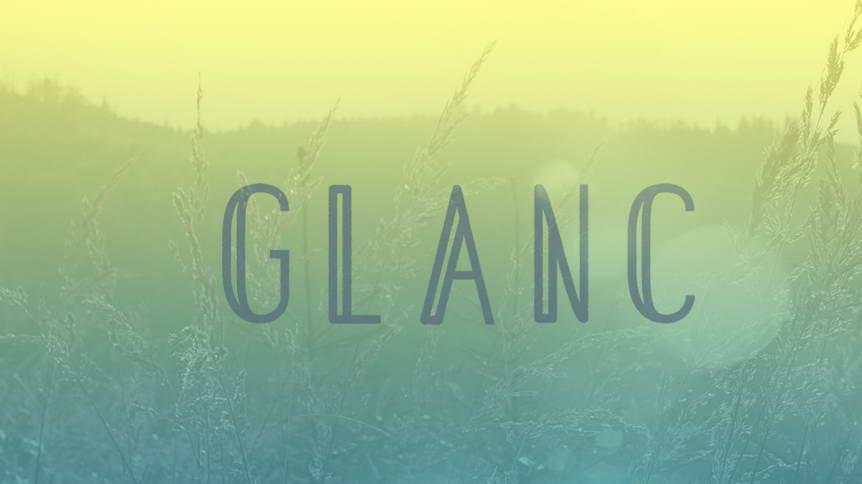 glanc free font