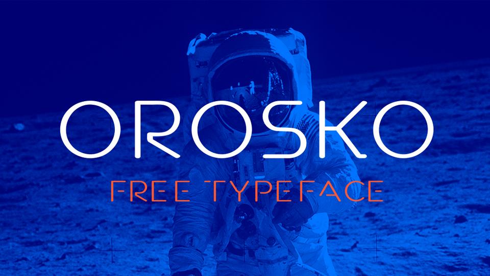 orosko free font