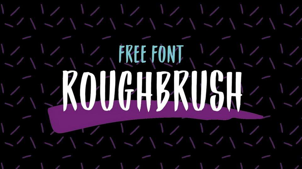 roughbrushfontfree