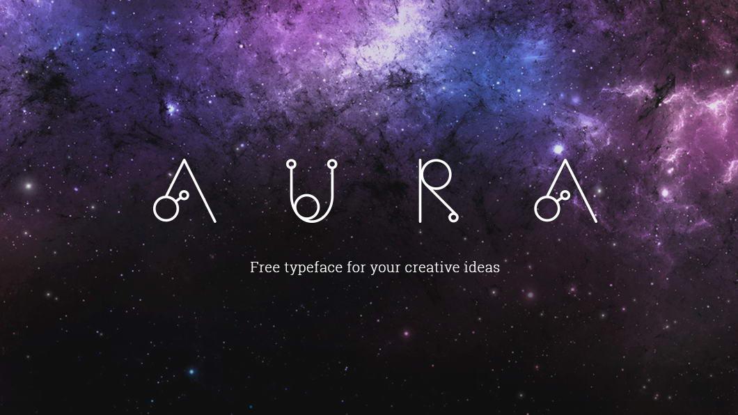 aura free font