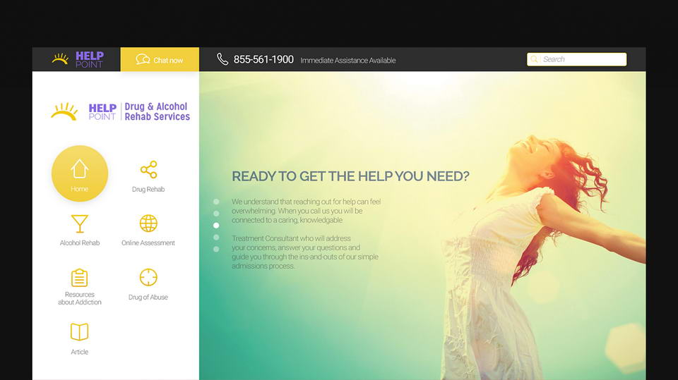 clinic website psd