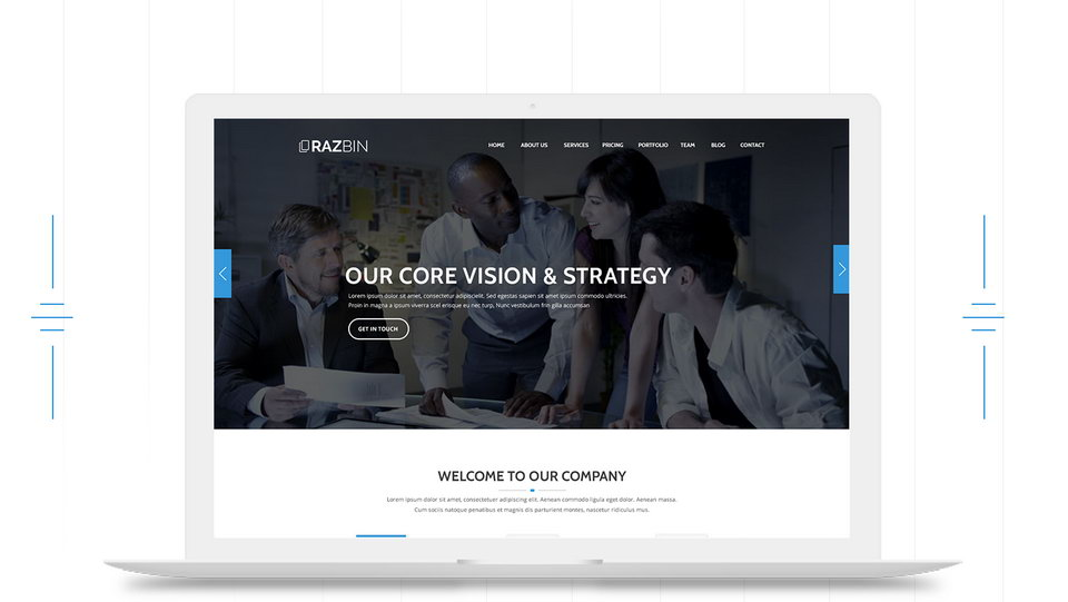 digital agency web template psd