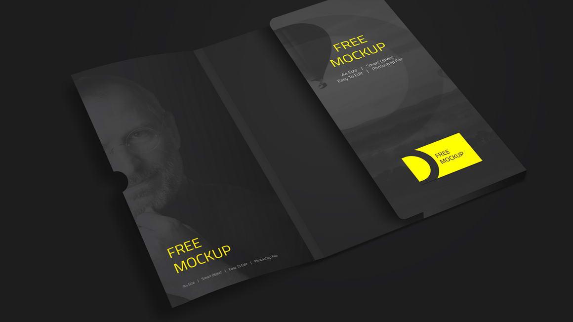 folder free mockup