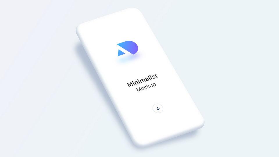 free minimalist phone mockup