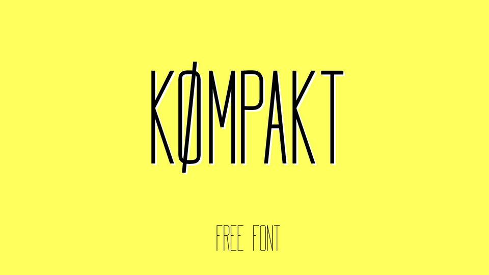 kompakt free font