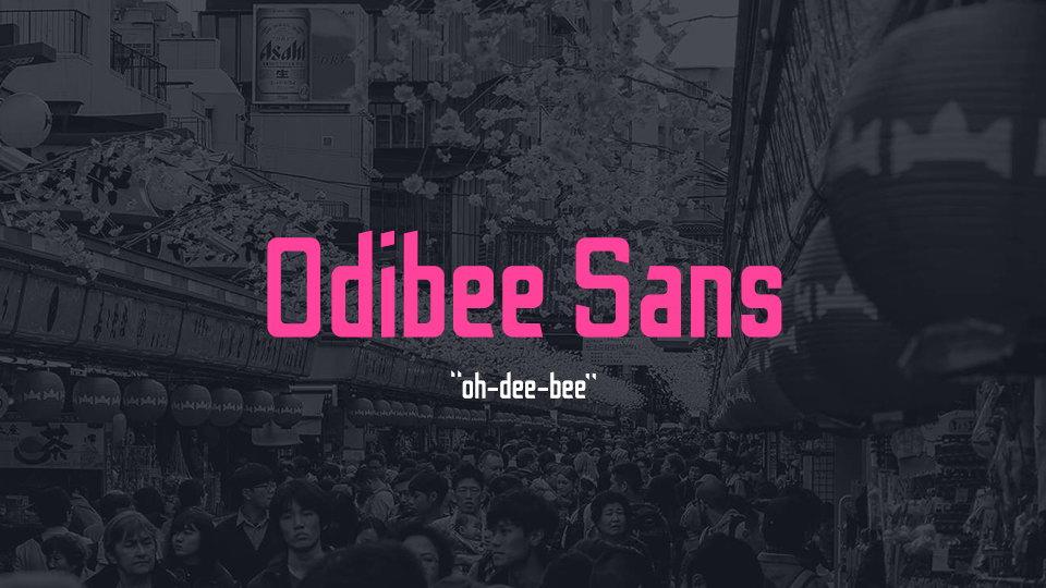 odibee font download